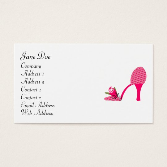 Feminine Dark Pink Business Cards