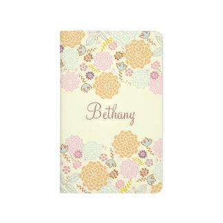 Feminine Fancy Modern Floral Personalized Journals