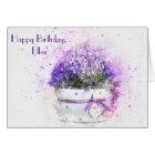 Feminine floral watercolor birthday card