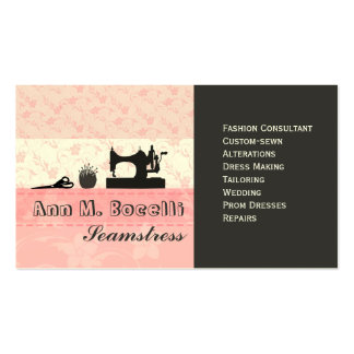 Feminine Handmade Fashion Moda Pack Of Standard Business Cards