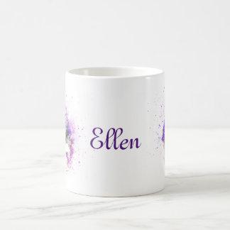 Feminine, lavender and purple flowers bouquet coffee mug