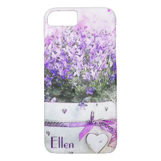 Feminine, lavender and purple flowers bouquet iPhone 8/7 case
