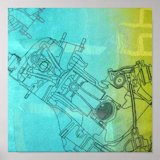 Feminine mechanics print