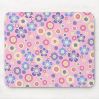 Feminine Pastel Flowers - Mouse Pad