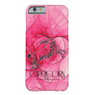 Feminine Pink and Black Capricorn Zodiac Star Sign Barely There iPhone 6 Case