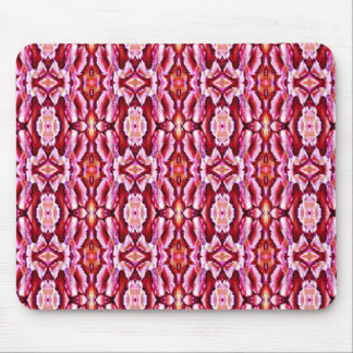 Feminine Pink Lace Pattern Mouse Pad
