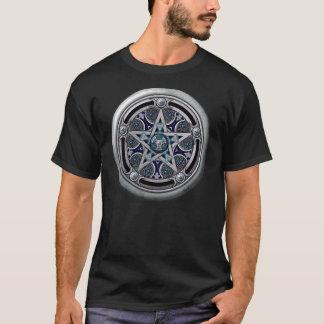 Feminine Silver Pagan Pentacle T-Shirt