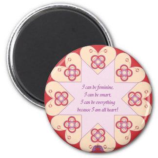 Feminine, Smart, All Heart--HeartStar(TM) magnet