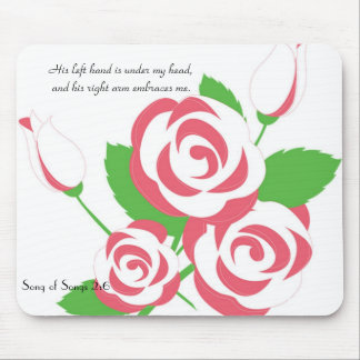 Feminine Soft Rose Mousepad
