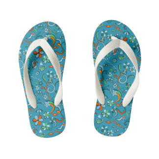 Feminine stylish fashion pop art style pattern flip flops