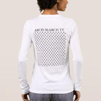Feminine t-shirt Basic Long Malha Arch Search TV