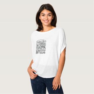 Feminine t-shirt Flowy Circle Arch Mural Search