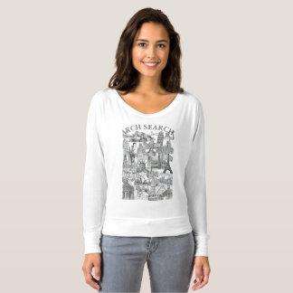 Feminine t-shirt Flowy Long Arch Mural Search