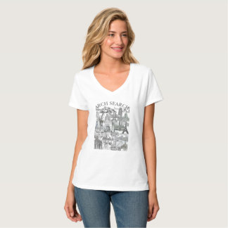 Feminine t-shirt Hanes V Arch Mural Search