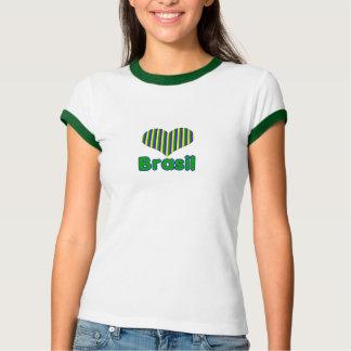 Feminine t-shirt I love Brazil