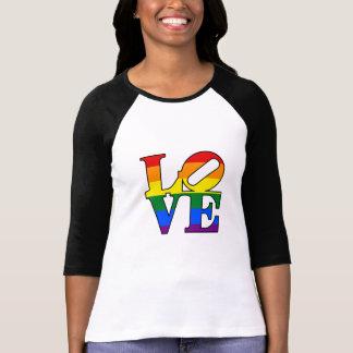Feminine t-shirt Raglan 3/4 Love LGBT