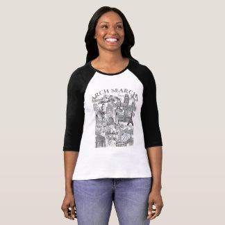 Feminine t-shirt Reglan 3/4 Arch Mural Search