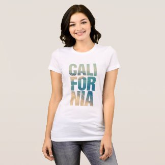 Feminine t-shirt with the Californian subject