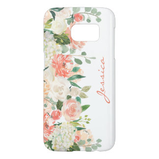 Feminine Watercolor Floral with Monogram