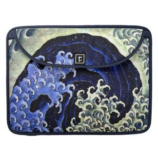 Feminine Wave (Detail) by Hokusai Sleeve For MacBooks