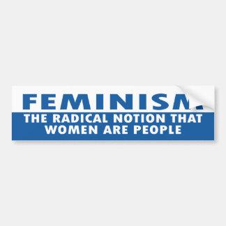 feminism bumper stickers