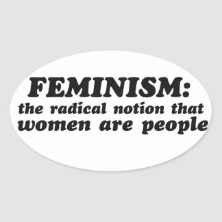 Feminism defined oval sticker