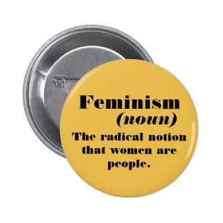 Feminism definition 6 cm round badge