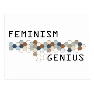 Feminism Genius Postcard