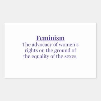 Feminism in Purple Rectangular Sticker
