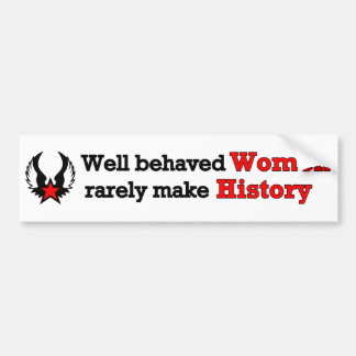 Feminism Making History Bumper Sticker