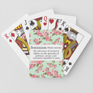 Feminism Playing Cards