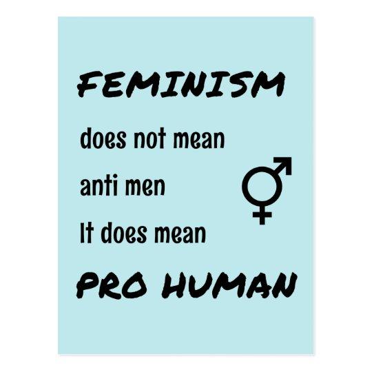 Feminism pro human quote postcard