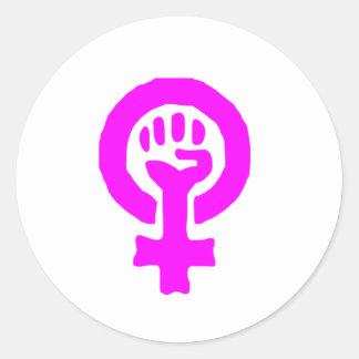 Feminism Symbol Classic Round Sticker