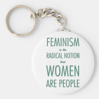Feminism: The Radical Notion that Women are People Basic Round Button Key Ring