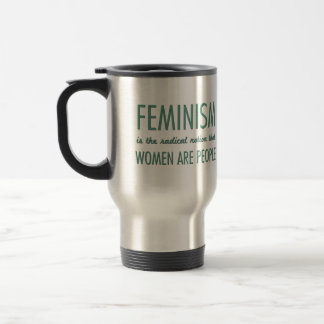 Feminism: The Radical Notion that Women are People Stainless Steel Travel Mug