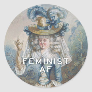 Feminist AF Classic Round Sticker