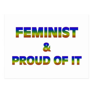 Feminist and Proud 1 Post Cards