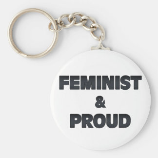 Feminist and Proud 2 Keychains