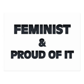Feminist and Proud Postcard