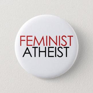 Feminist Atheist 6 Cm Round Badge