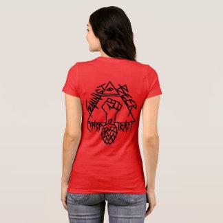 Feminist Beer Conspiracy: sharp edges on the back T-Shirt