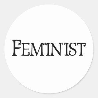 Feminist Classic Round Sticker