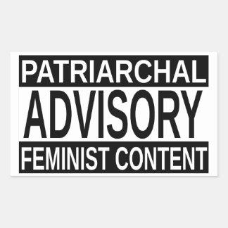 Feminist Content Rectangular Sticker
