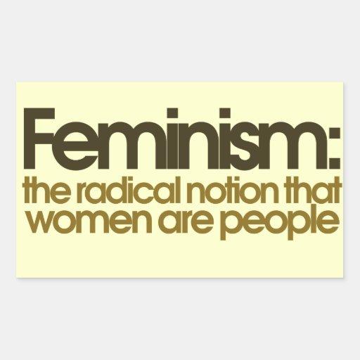 Feminist Definition Rectangular Sticker Zazzle