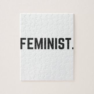 Feminist Design Illustration Text Collection Jigsaw Puzzle
