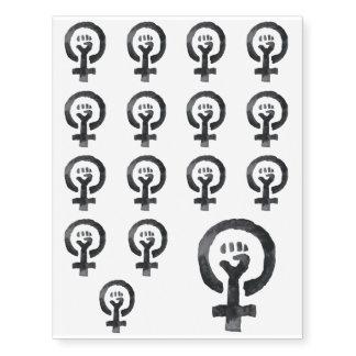 Feminist Fist (blue background)