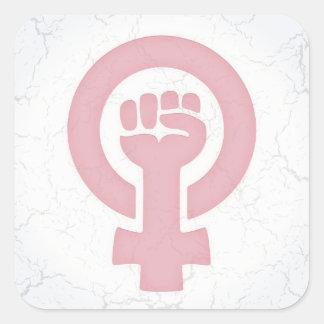 Feminist Fist Square Sticker