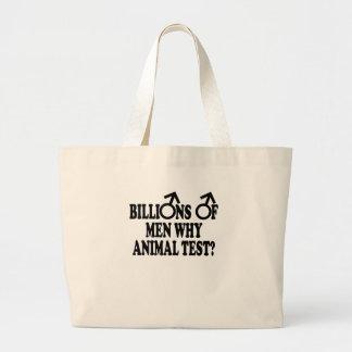 Feminist funny animal test bags
