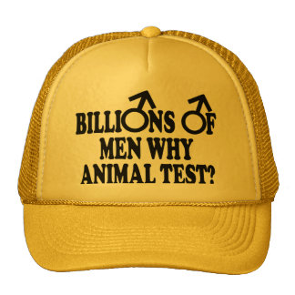 Feminist funny animal test hats