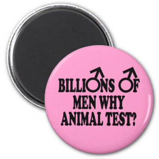 Feminist funny animal test magnets